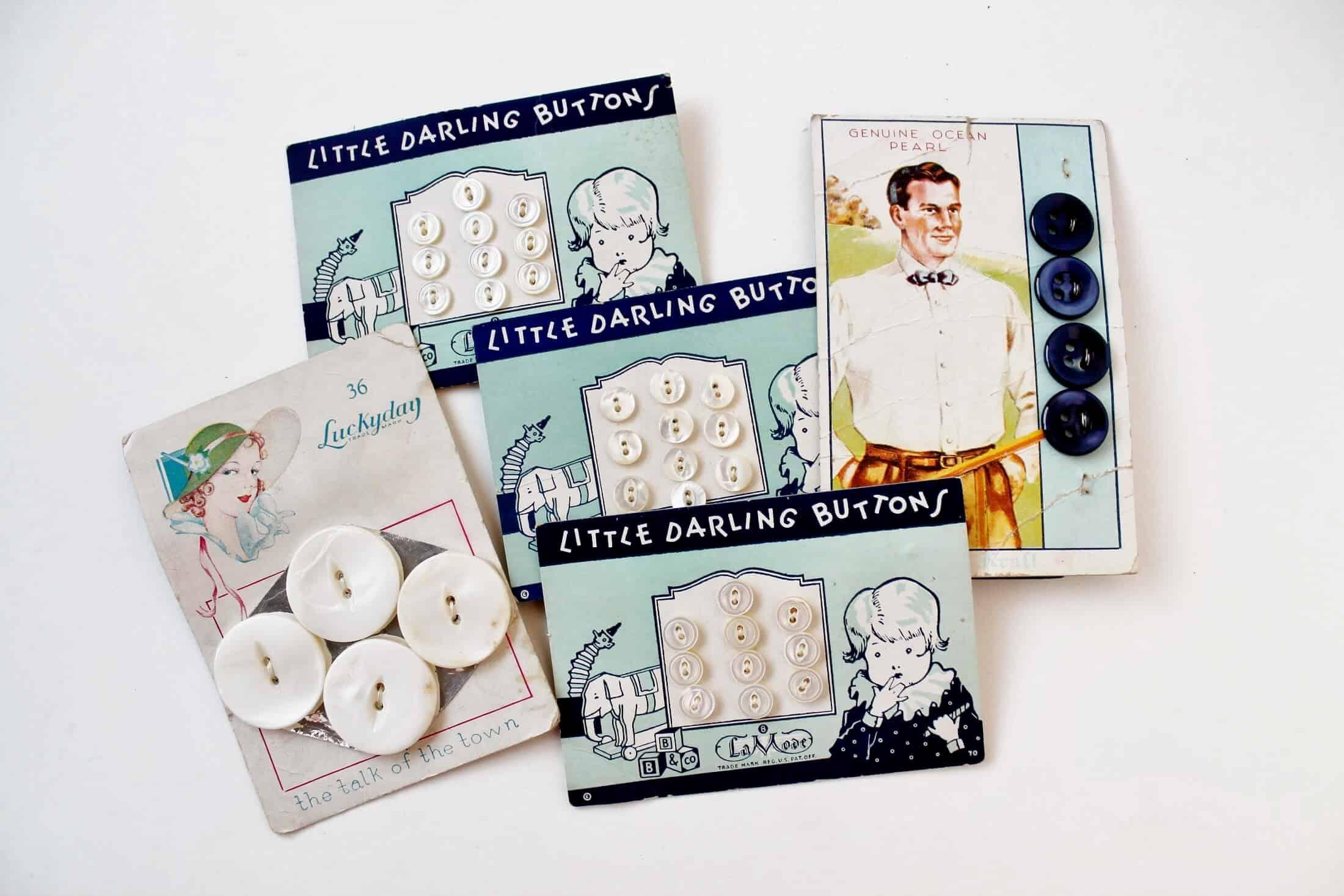adorable vintage buttons