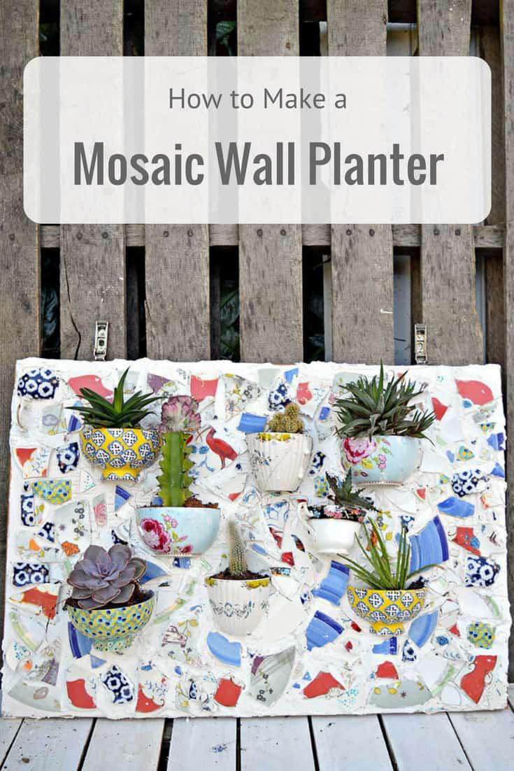 Vintage china and teacup mosaic wall