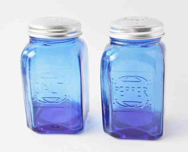 cobalt blue salt and pepper