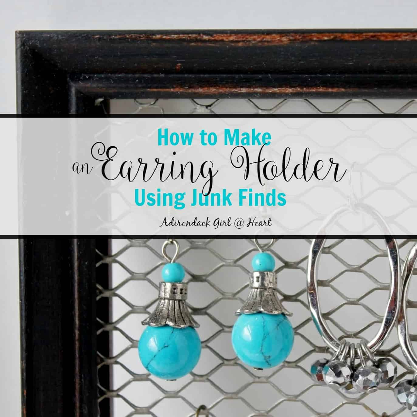how to make an earring holder out of junk finds