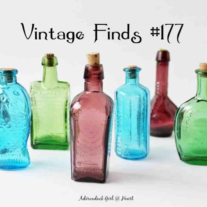 Mini colored bottles Vintage Finds #177