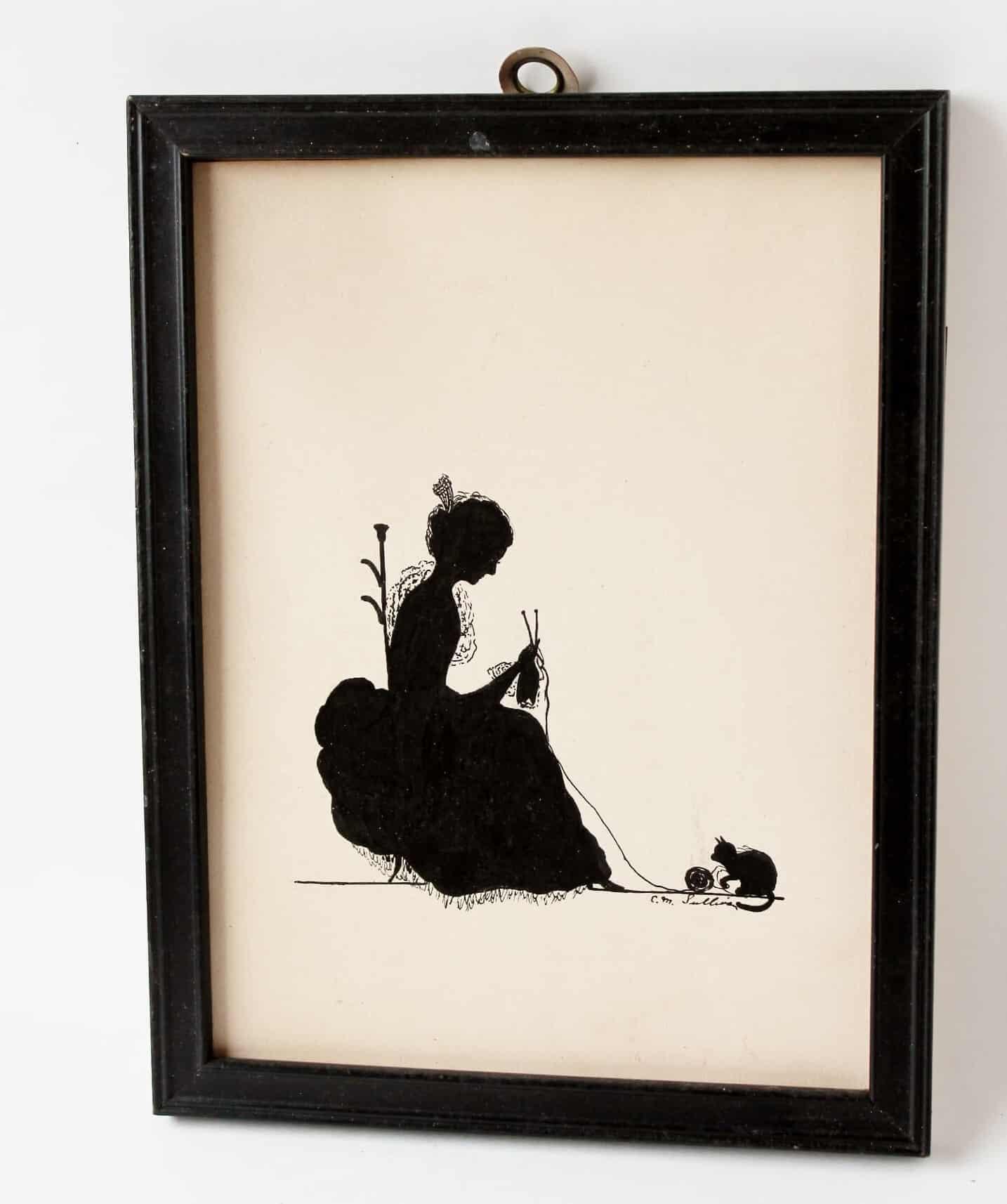original artwork ink silhuoette