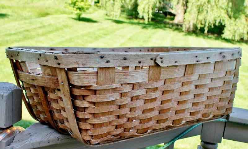 oak splint laundry basket