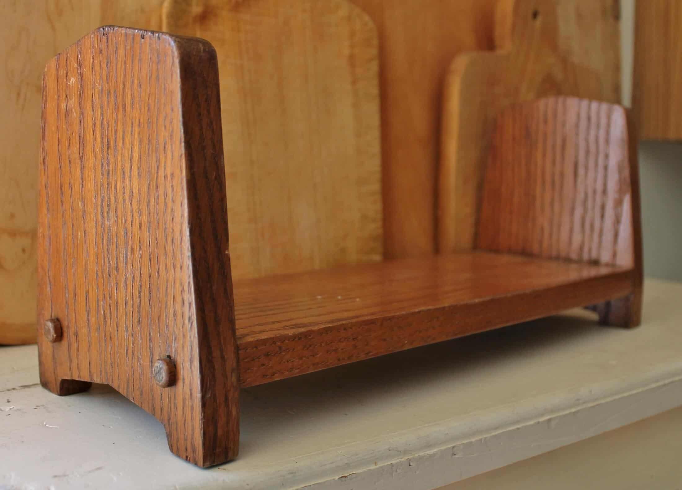 vintage oak book holder
