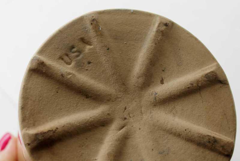USA mark on bottom of small crock