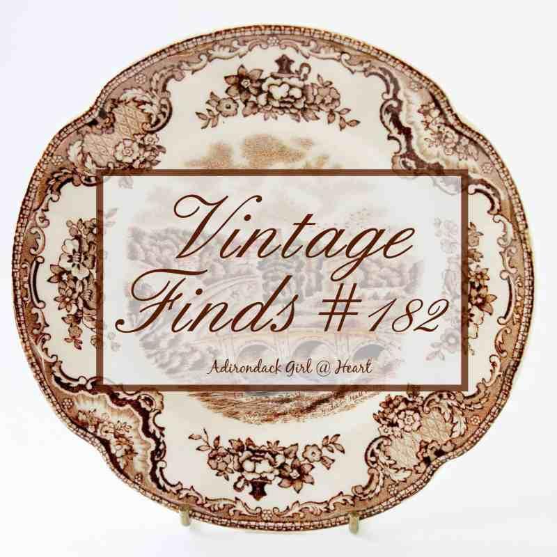 vintage transferware plate