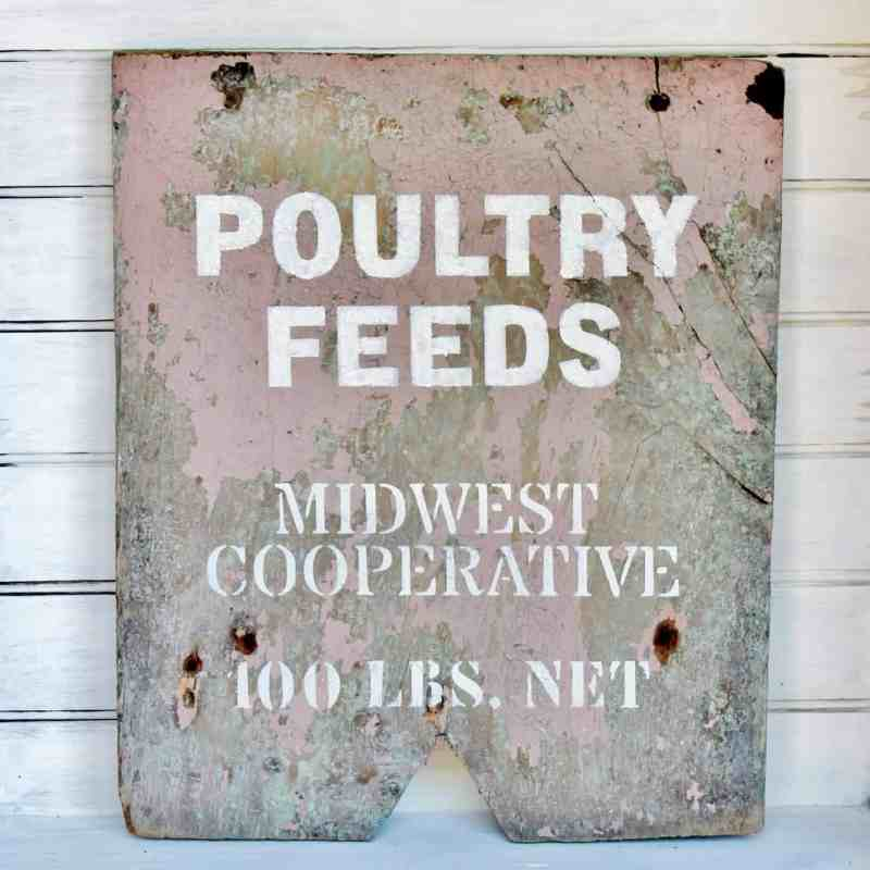 poultry feeds vintage sign