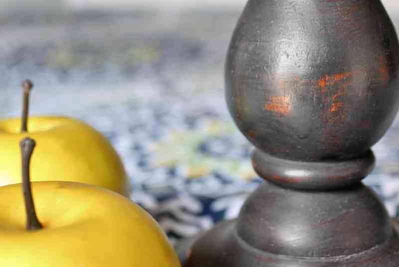 black candlestick pedestal stand