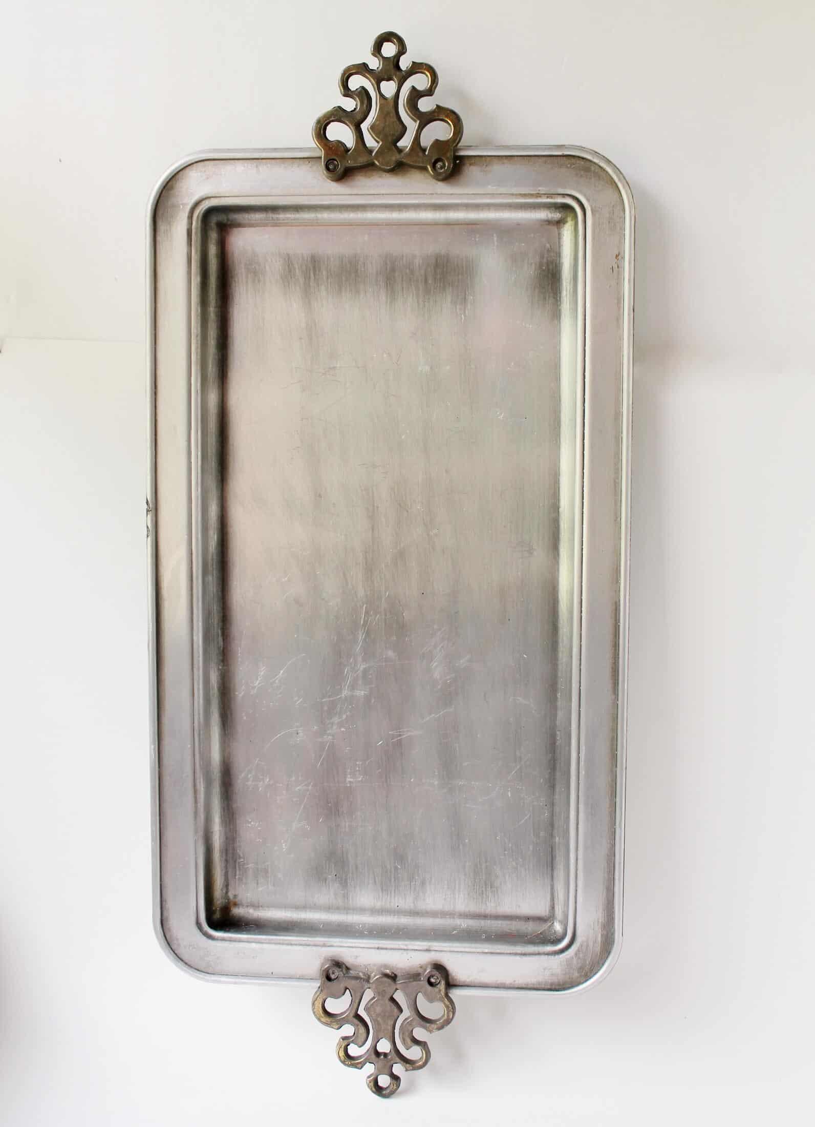 vintage metal tray