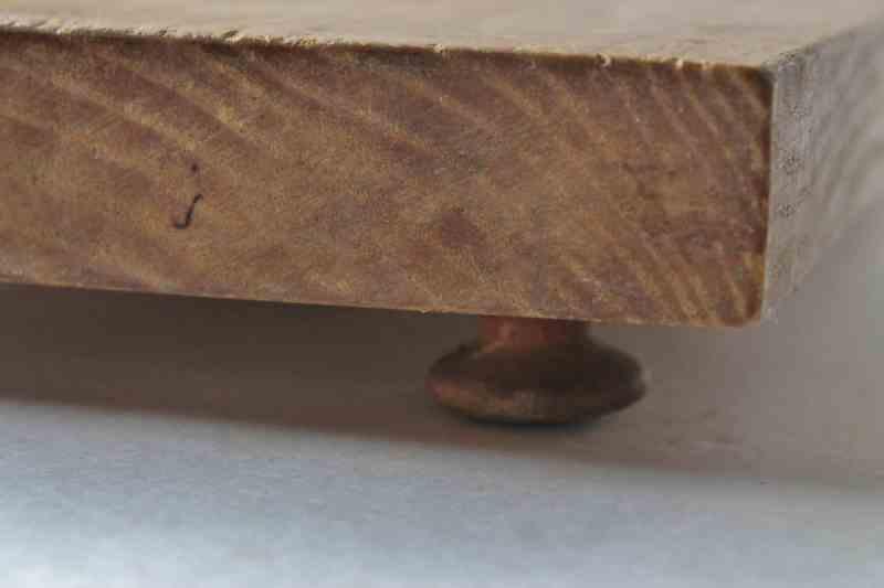 close up of bread board