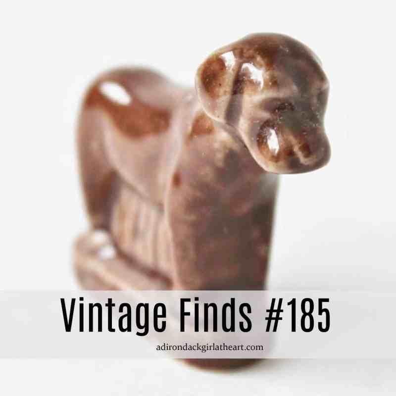 brown ceramic dog vintage finds #185