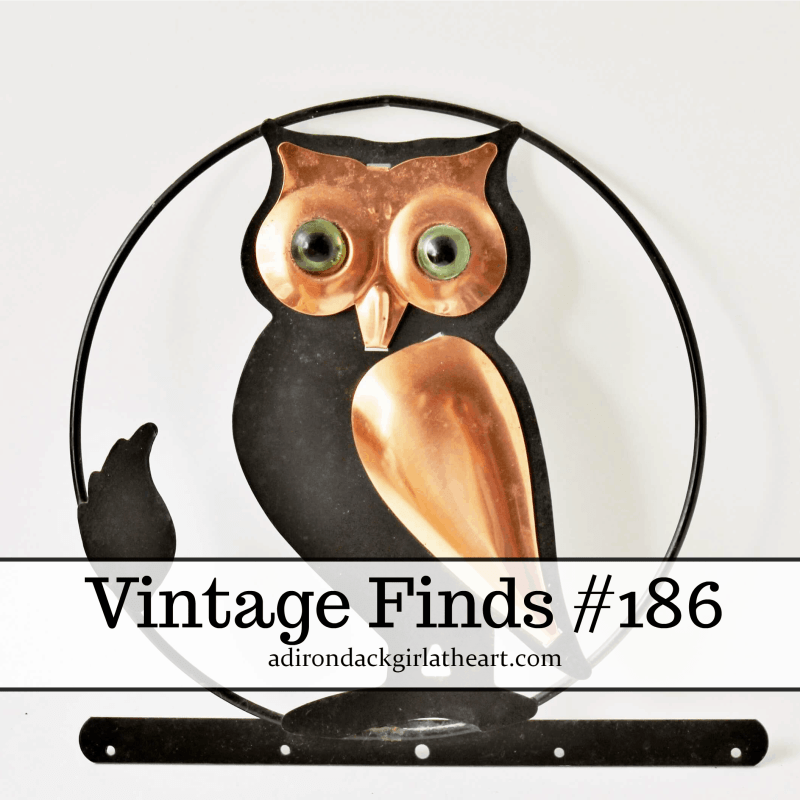 vintage finds -- metal owl