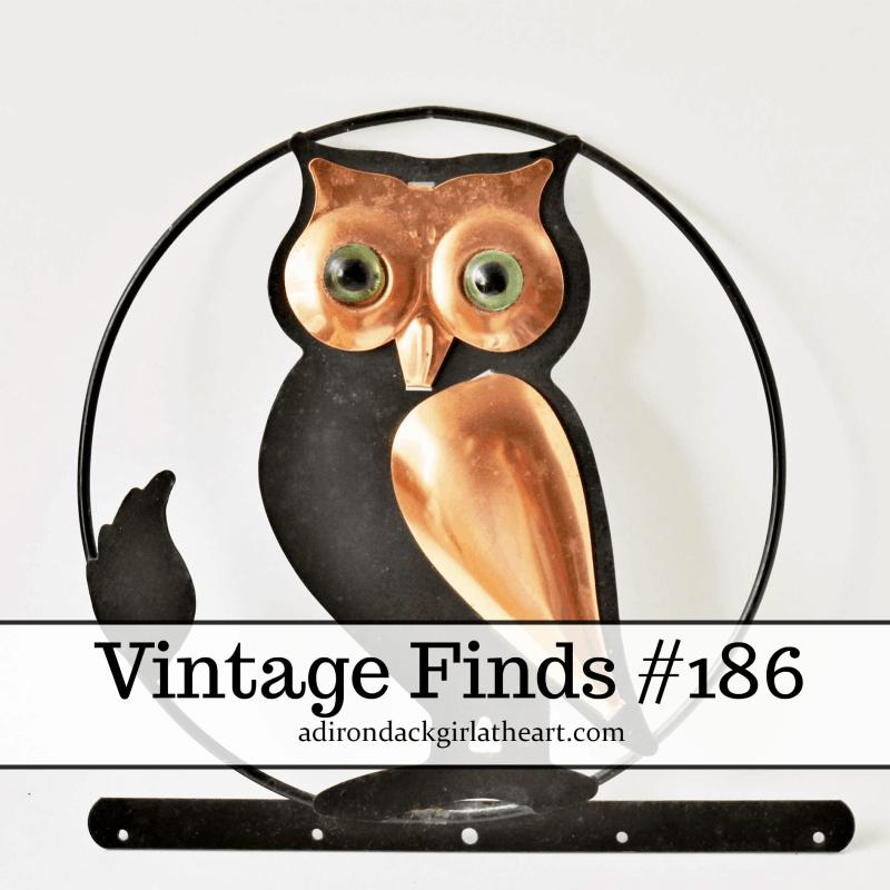 vintage finds -- metal owl