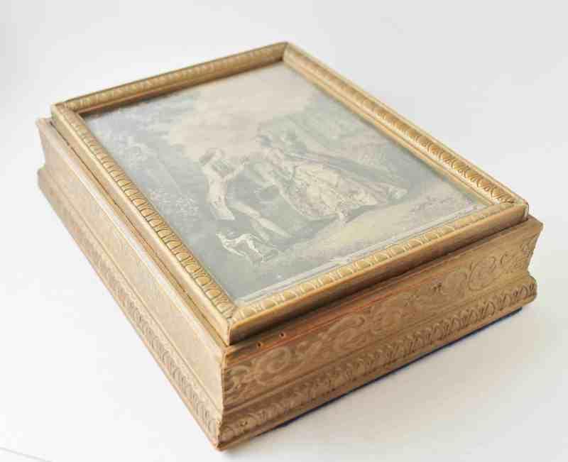 vintage gold document box