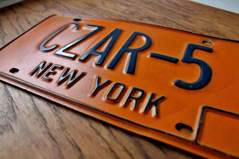 vintage nys license plate