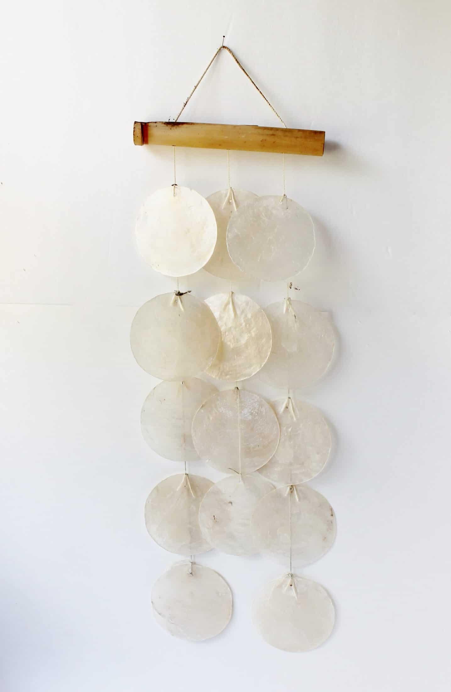 bohemian shell wind chime