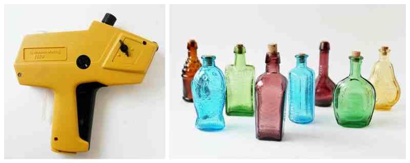 labeler and bottles