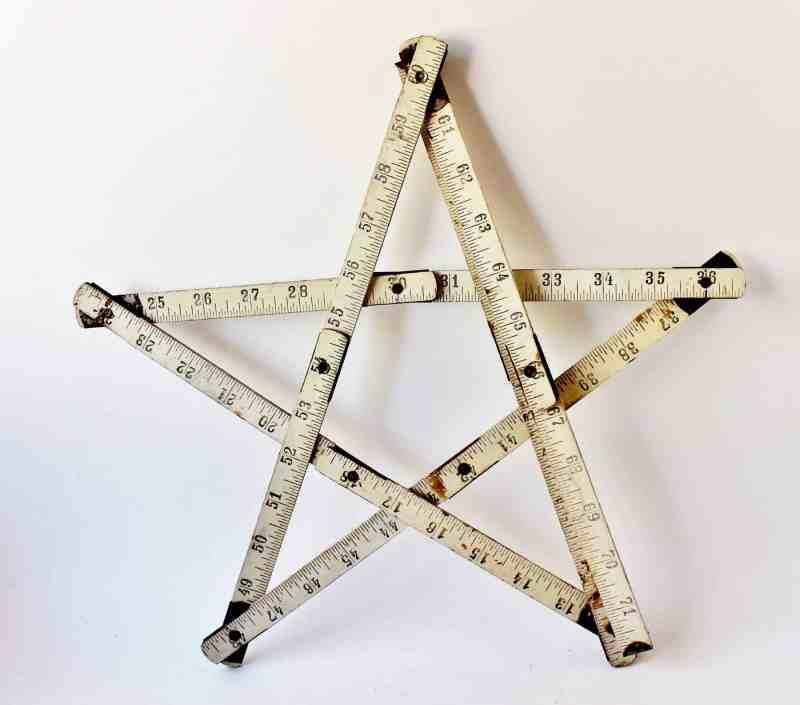 star shaped vintage folding ruler
