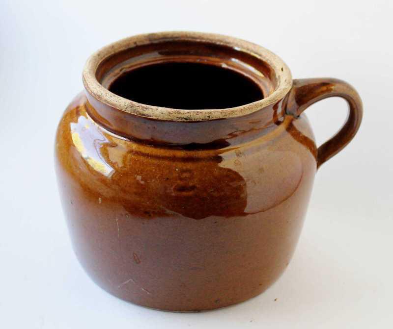 antique bean pot