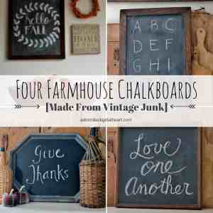 Four Farmhouse Chalkboards Made From Vintage Junk
