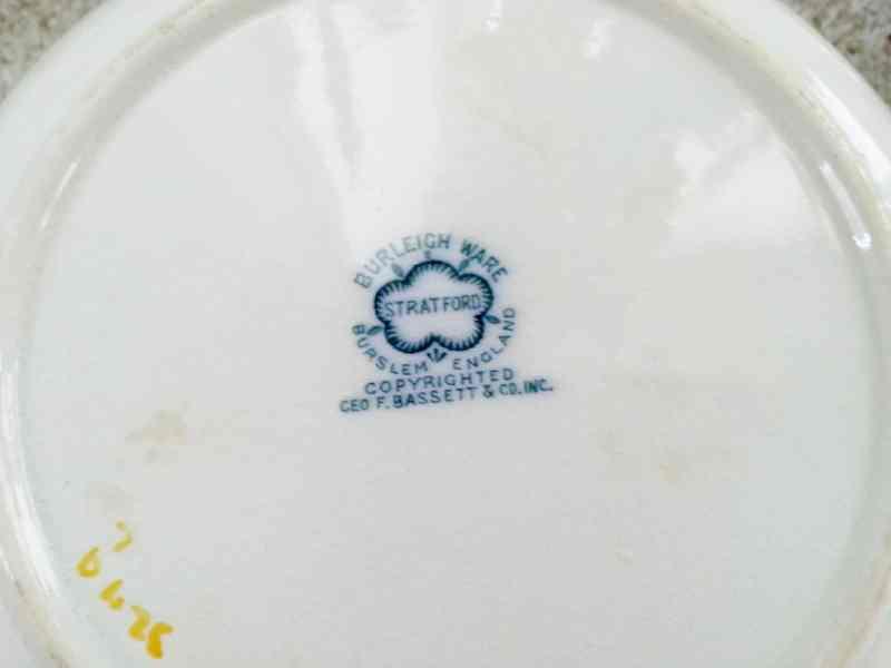 burliegh mark on dinner plate