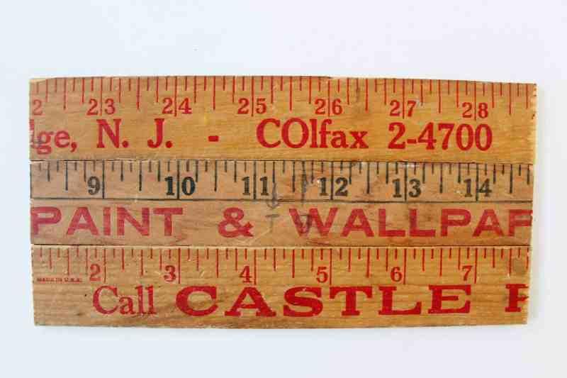 vintage yardstick pallet