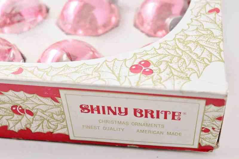 vintage pink shiny brites