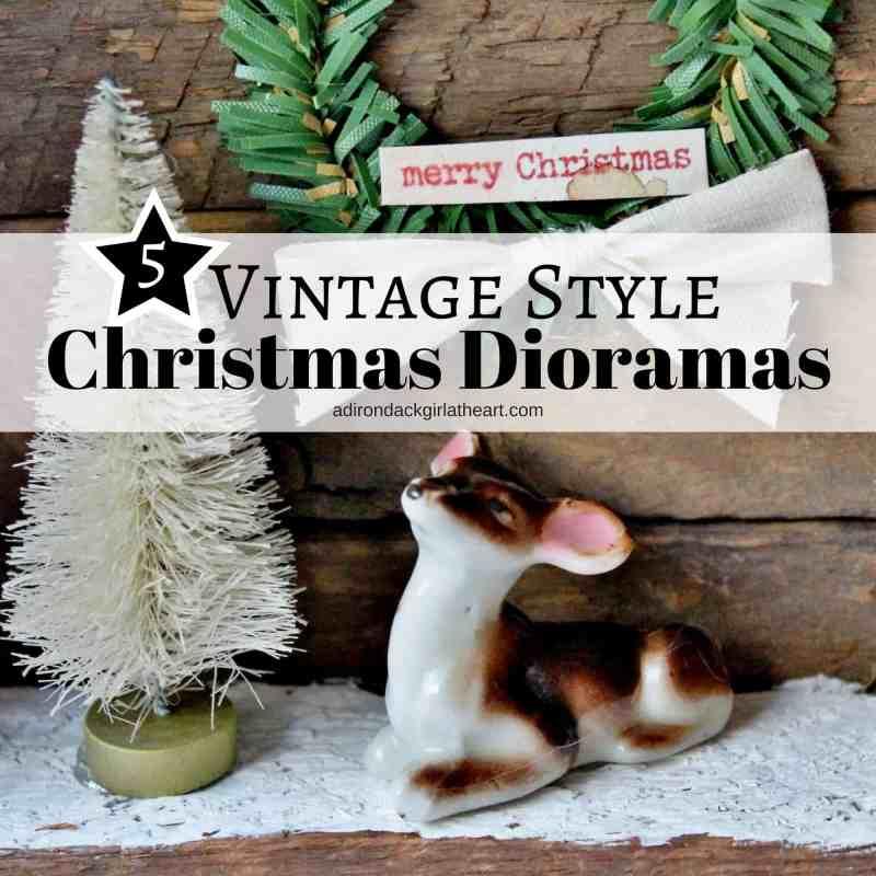 5 vintage style christmas dioramas adir