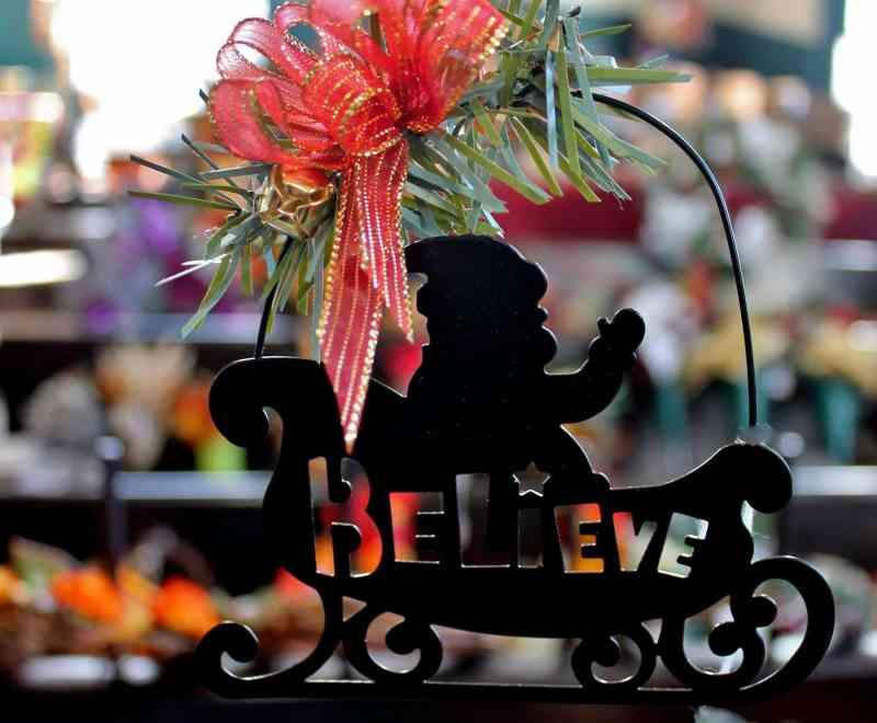 metal believe ornament