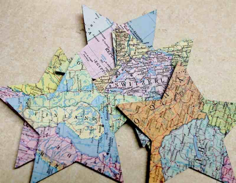 vintage atlas map stars