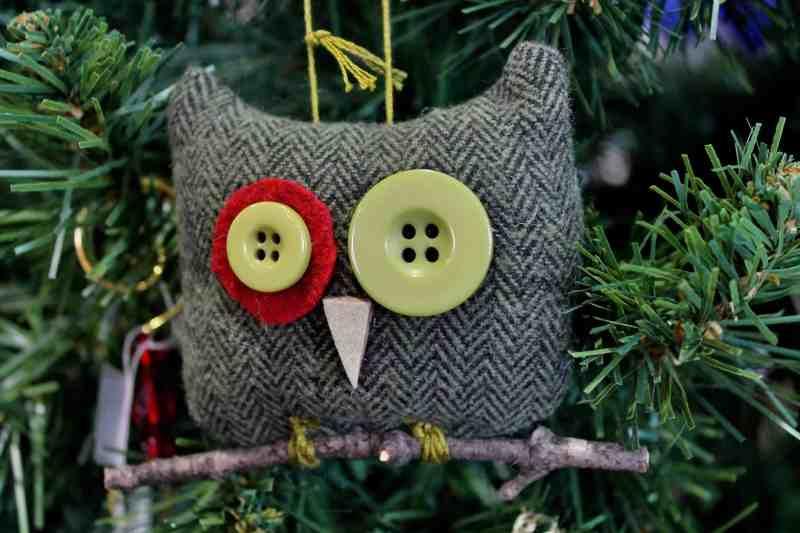 stuffed owl ornament