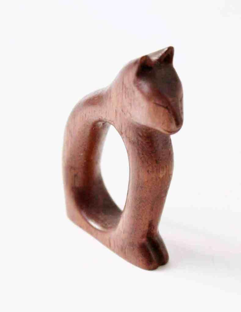 cat napkin ring