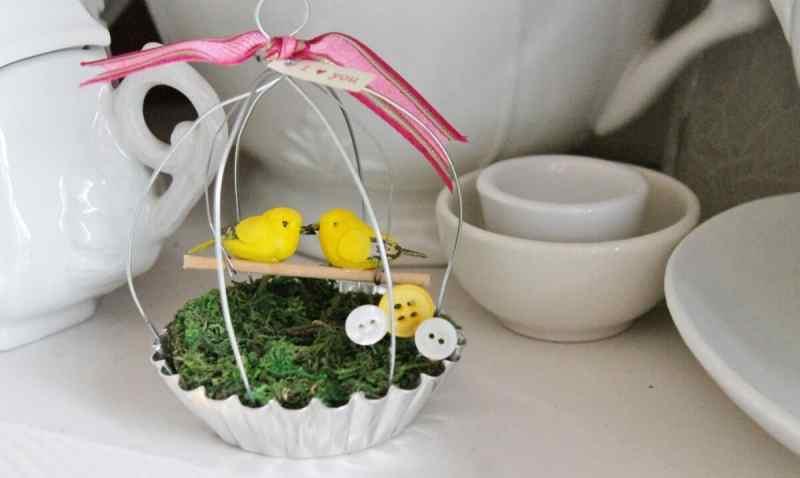 tart pan love bird cage