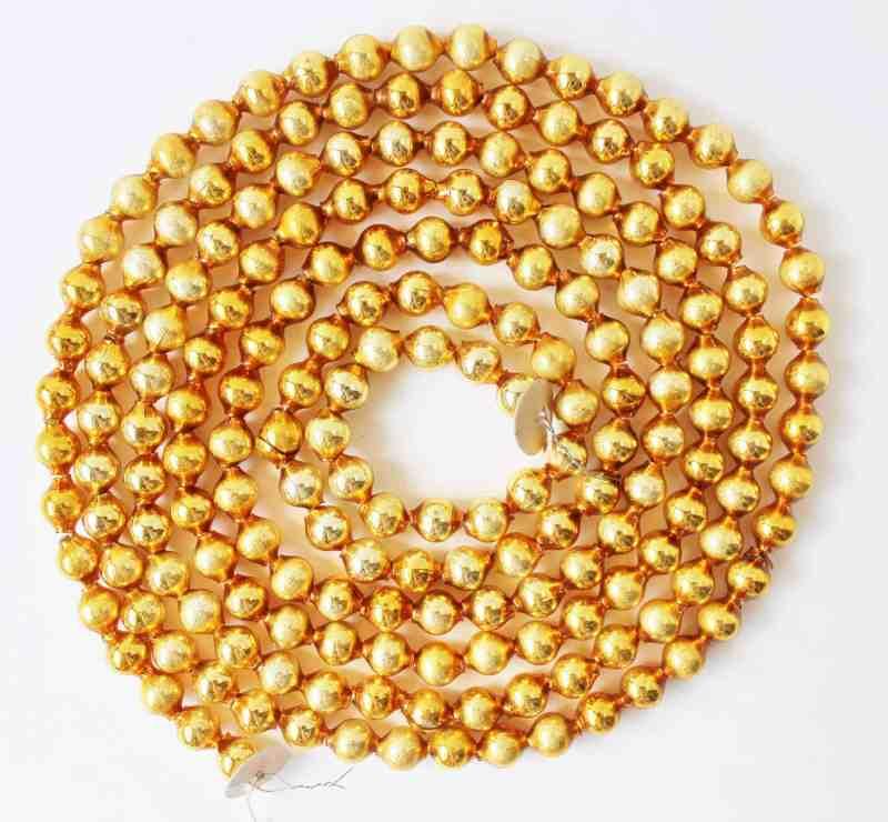 vintage gold mercury glass garland