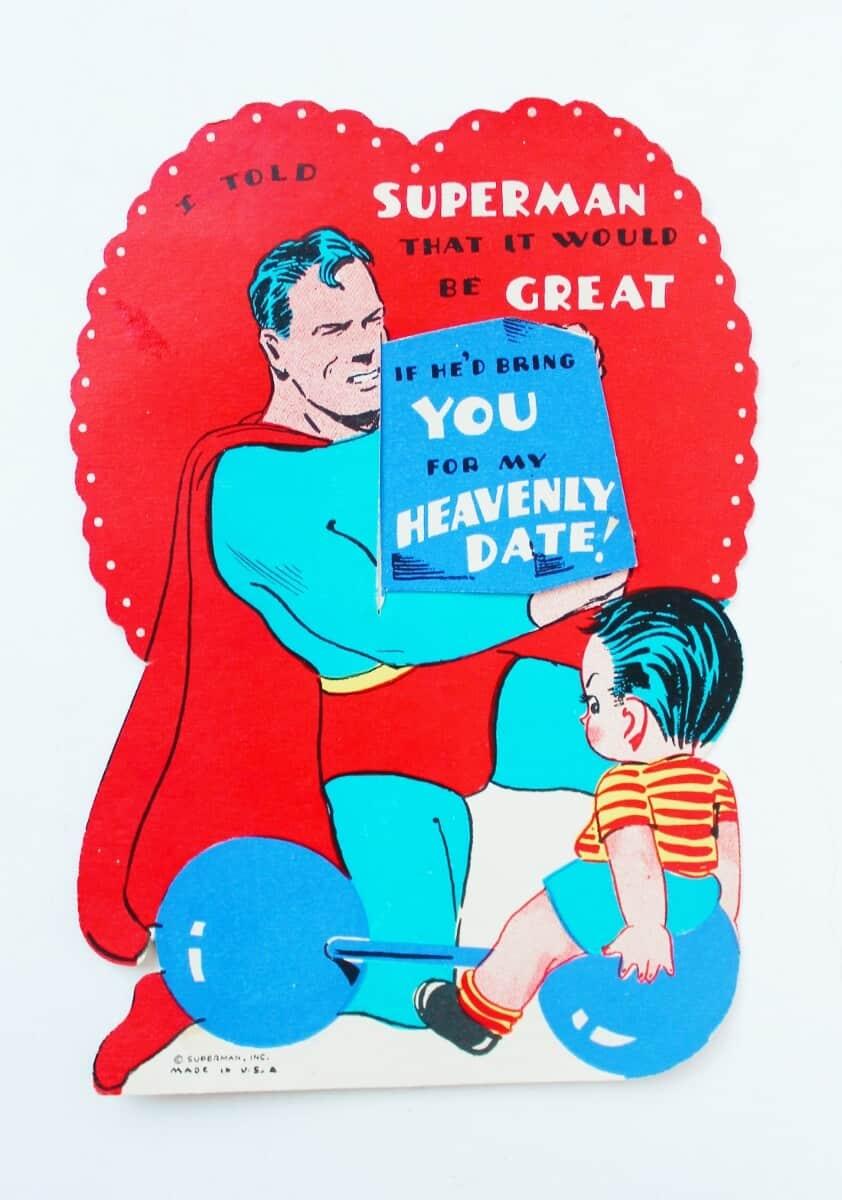 Vintage Superman Valentine