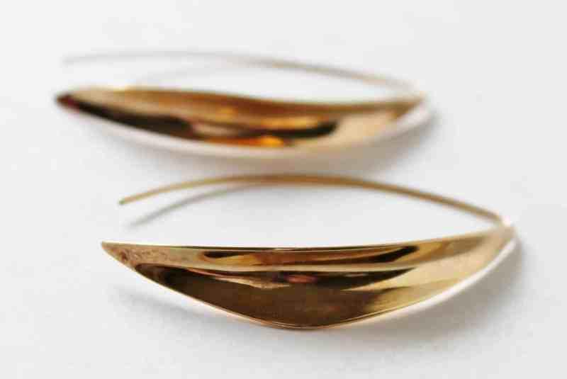 gold over sterling leaf motif earrings