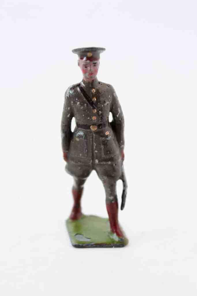 antique tin soldier