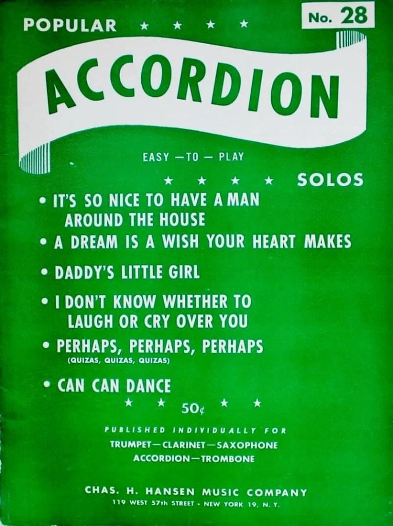 popular accordion 1950