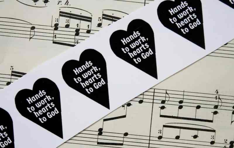 Vintage Music Paper and Heart Quote