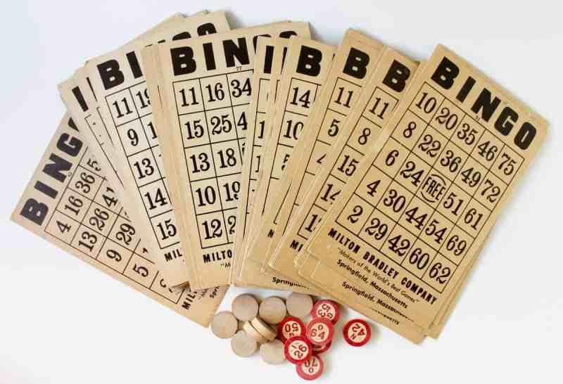 Vintage Bingo cards and numbers