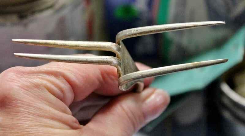 bent vintage fork