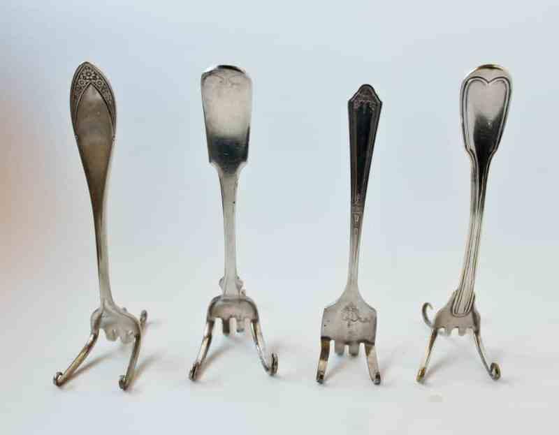 vintage fork easels