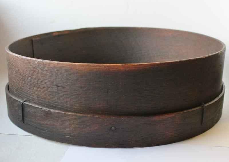 antique wooden sieve