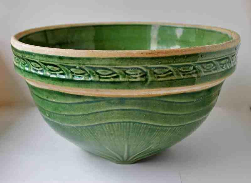green yellow ware bowl