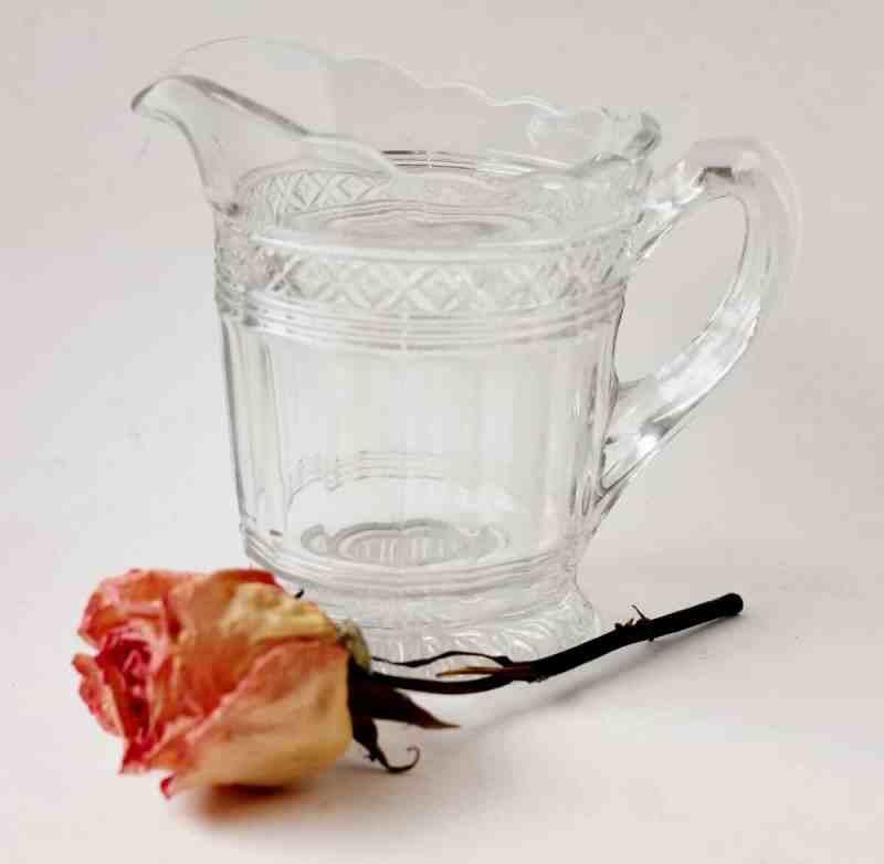 Vintage Pressed Glass Creamer