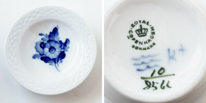 Royal Copenhagen blue floral butter pat