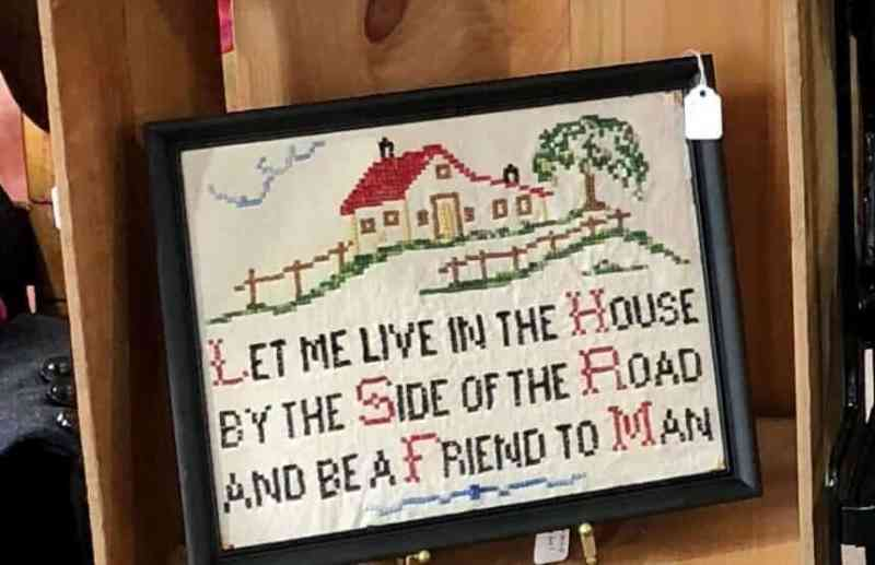 vintage cross stitch let me live in the house (861x556)