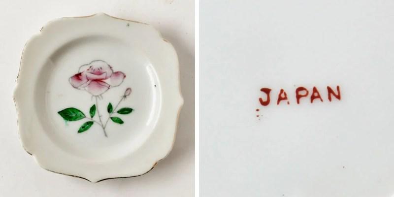 vintage Floral Japan butter pat