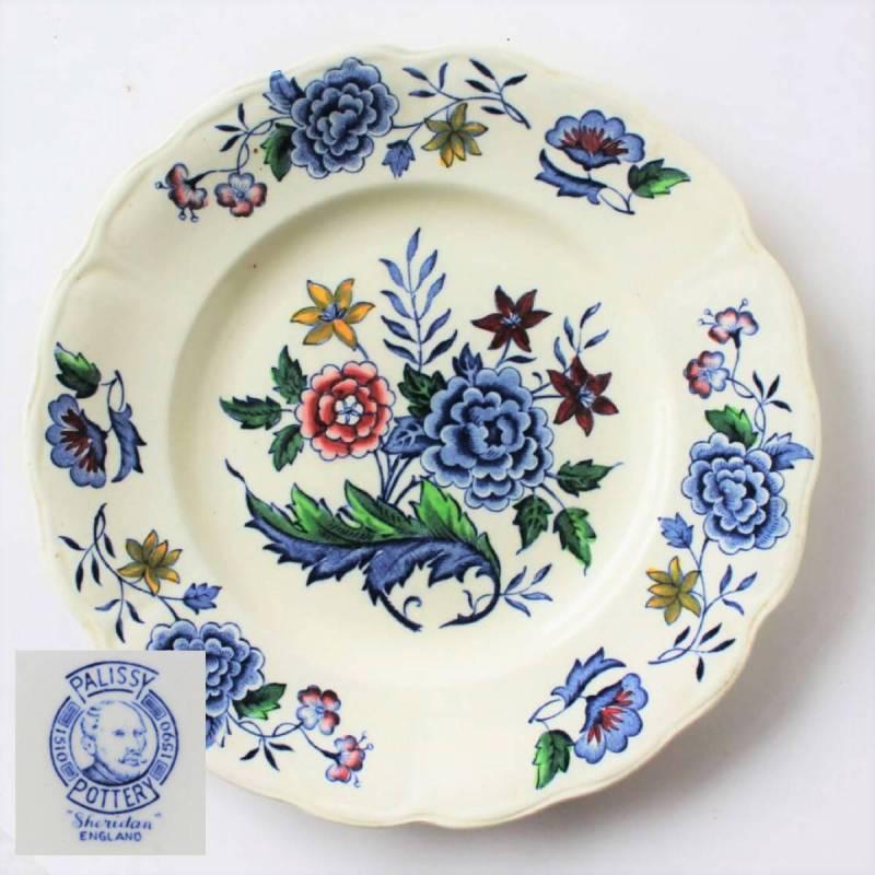 Vintage Palissy Pottery _Sheridan_ Transferware Plate