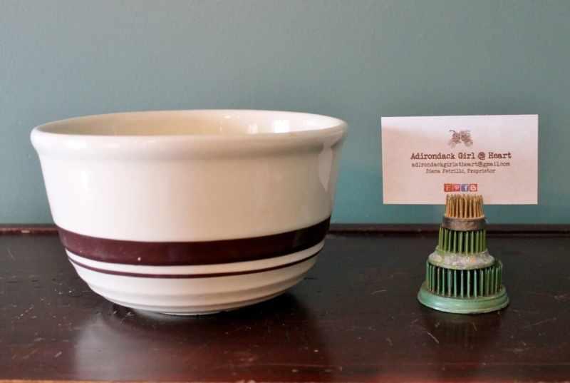 McCoy striped mixing bowl